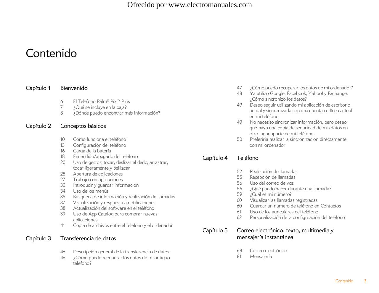 Manual de Usuario Palm Pixi Plus.pdf - page 3/220