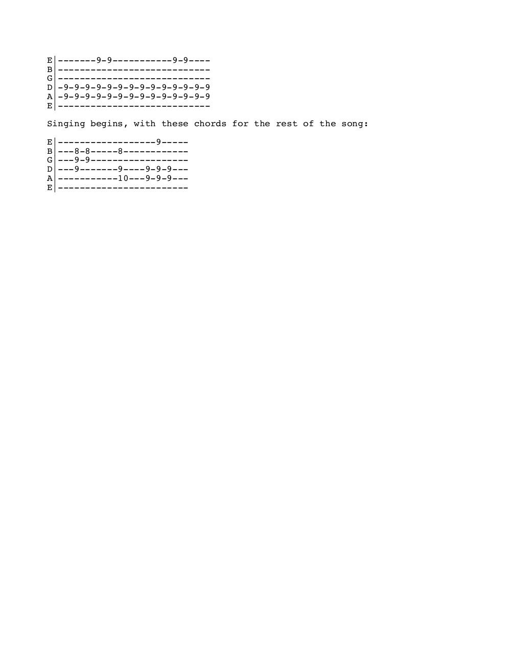 Document preview songbirds tab.pdf - page 2/2