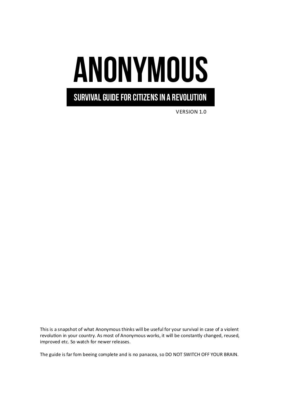 Anonymous - Survival Guide for Citizens in a Revolution.pdf - page 1/15