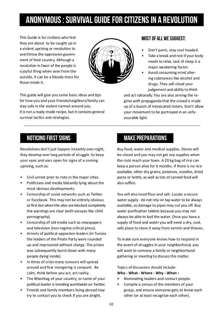Anonymous - Survival Guide for Citizens in a Revolution.pdf - page 3/15