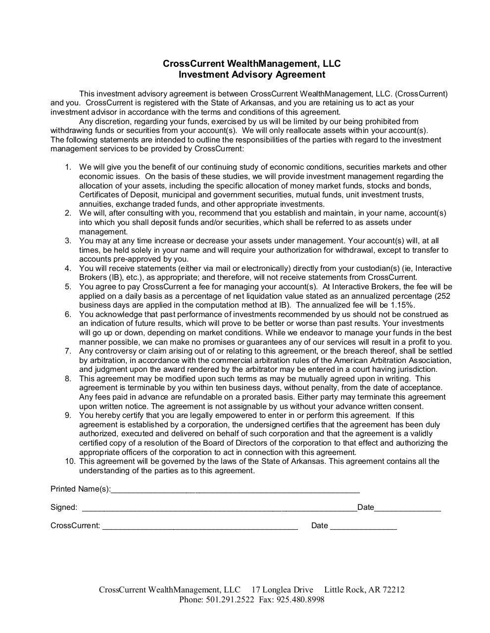 Document preview cc Investment Advisory Agreement.pdf - page 1/1