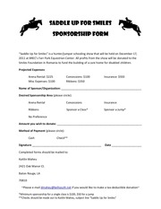 PDF Document sponsorship form pdf