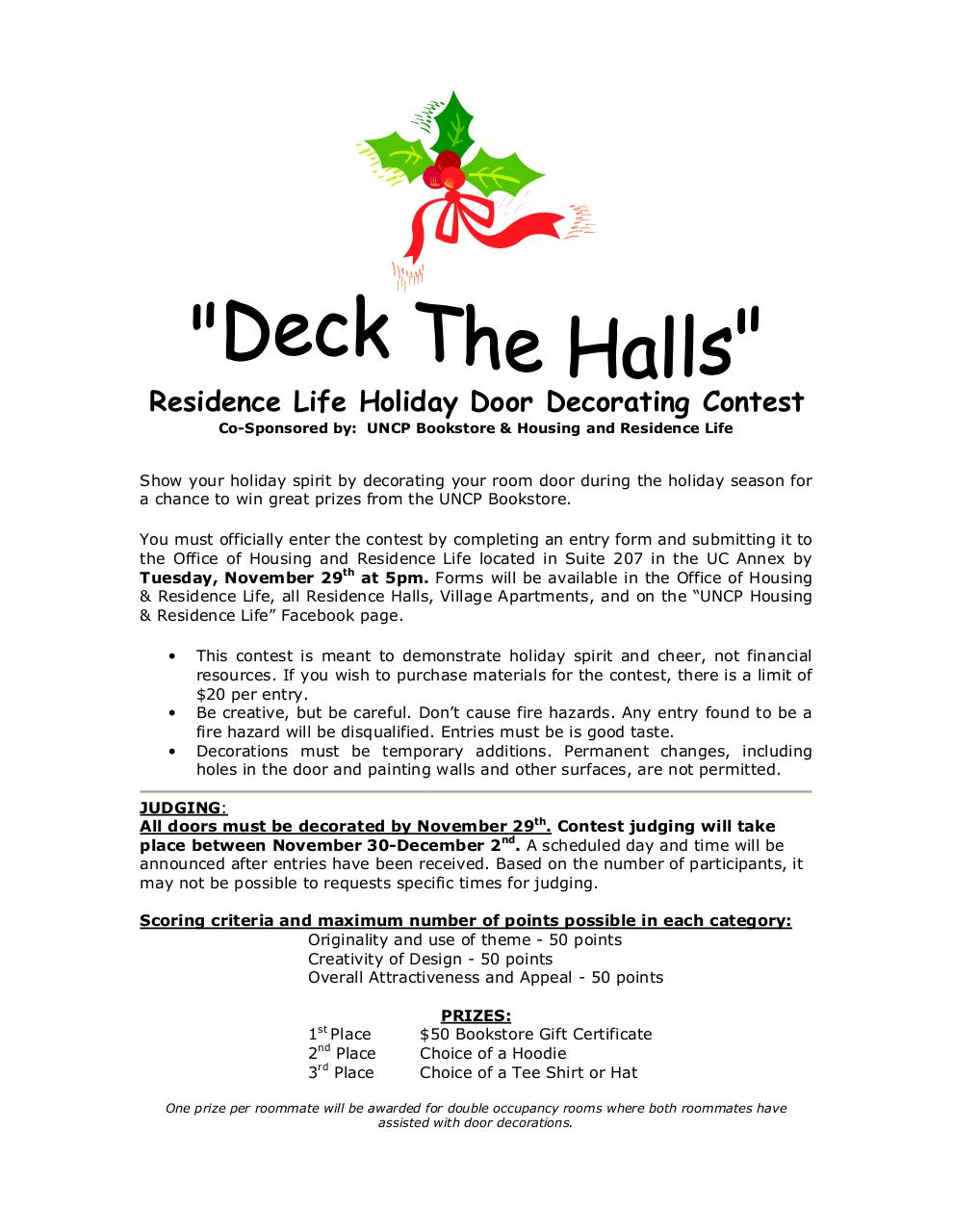 Document preview Residence Life Holiday Door Decorating Contest.pdf - page 1/2