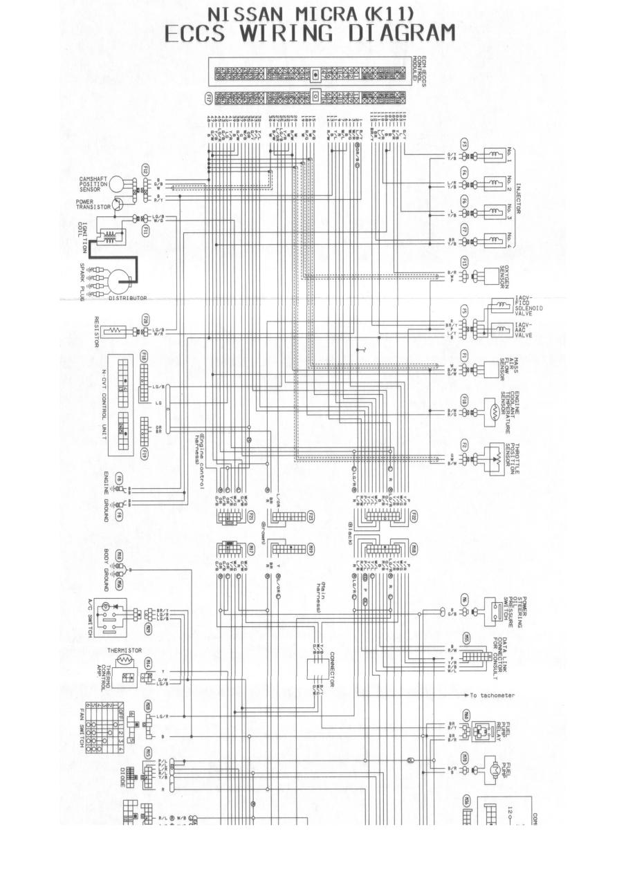 nissan micra k11 stereo wiring diagram