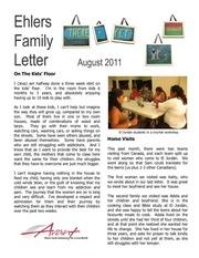 ehlers family letter aug 2011