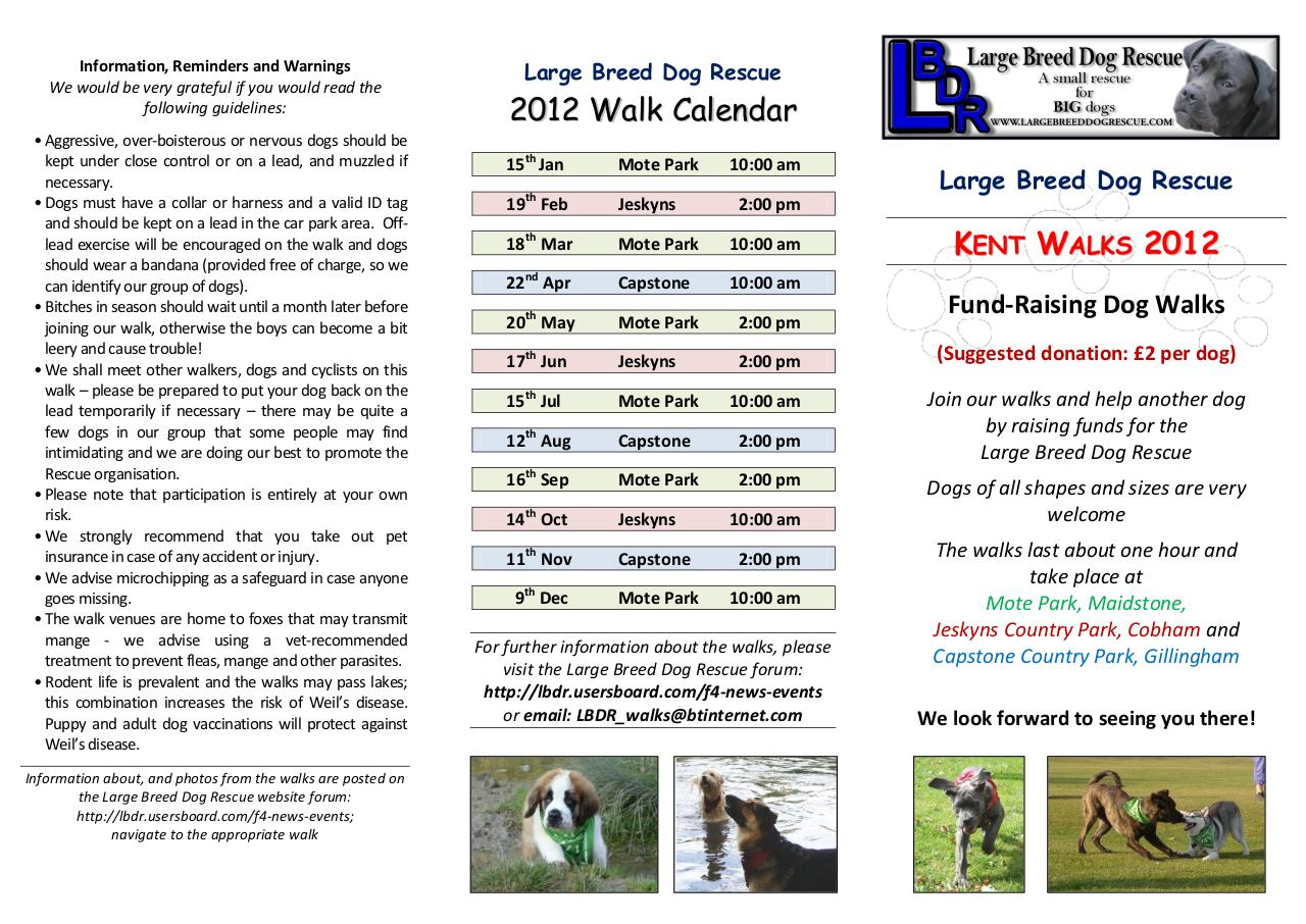 Large Breed Dog Rescue Walks 2012 Flyer.pdf - page 1/2