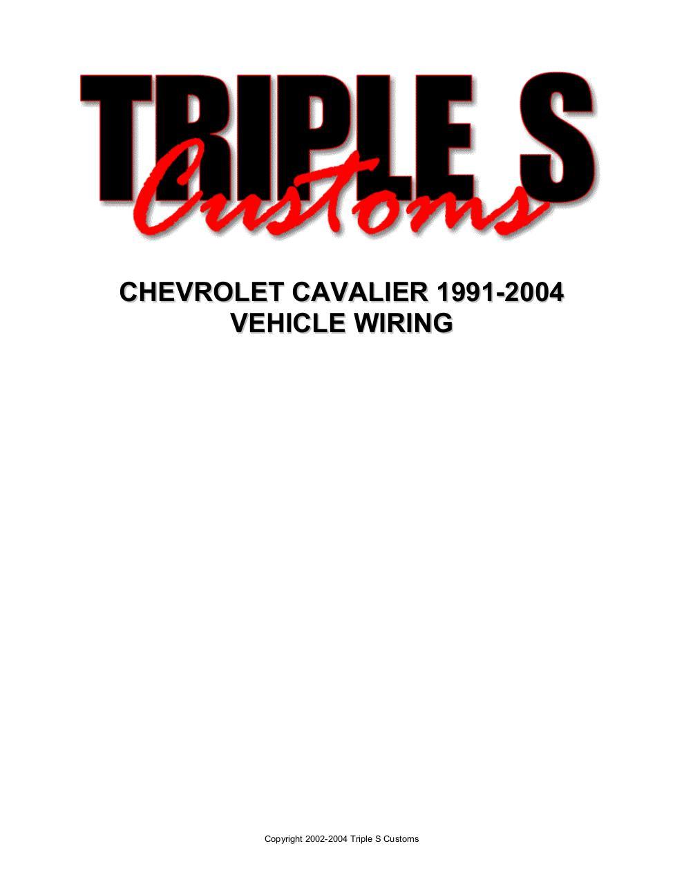 CHEVROLET CAVALIER 1991 2004.doc by User - Cavalier Wiring pdf ...