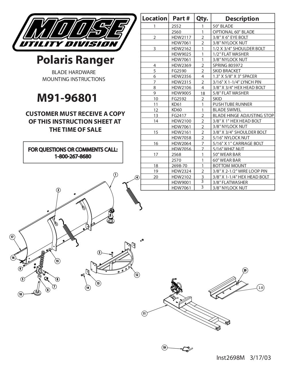Inst2615 Indt - Moose Plow Pdf