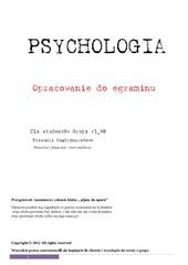 psychologia opracowanie