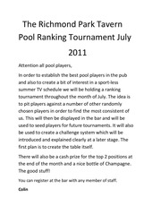 attention all pool players