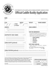cuddle buddy application