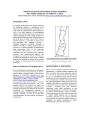 observaciones ionosfEricas precursoras
