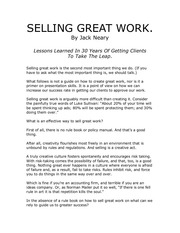selling great work