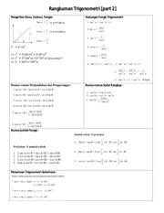rangkuman trigonometri bagian 2