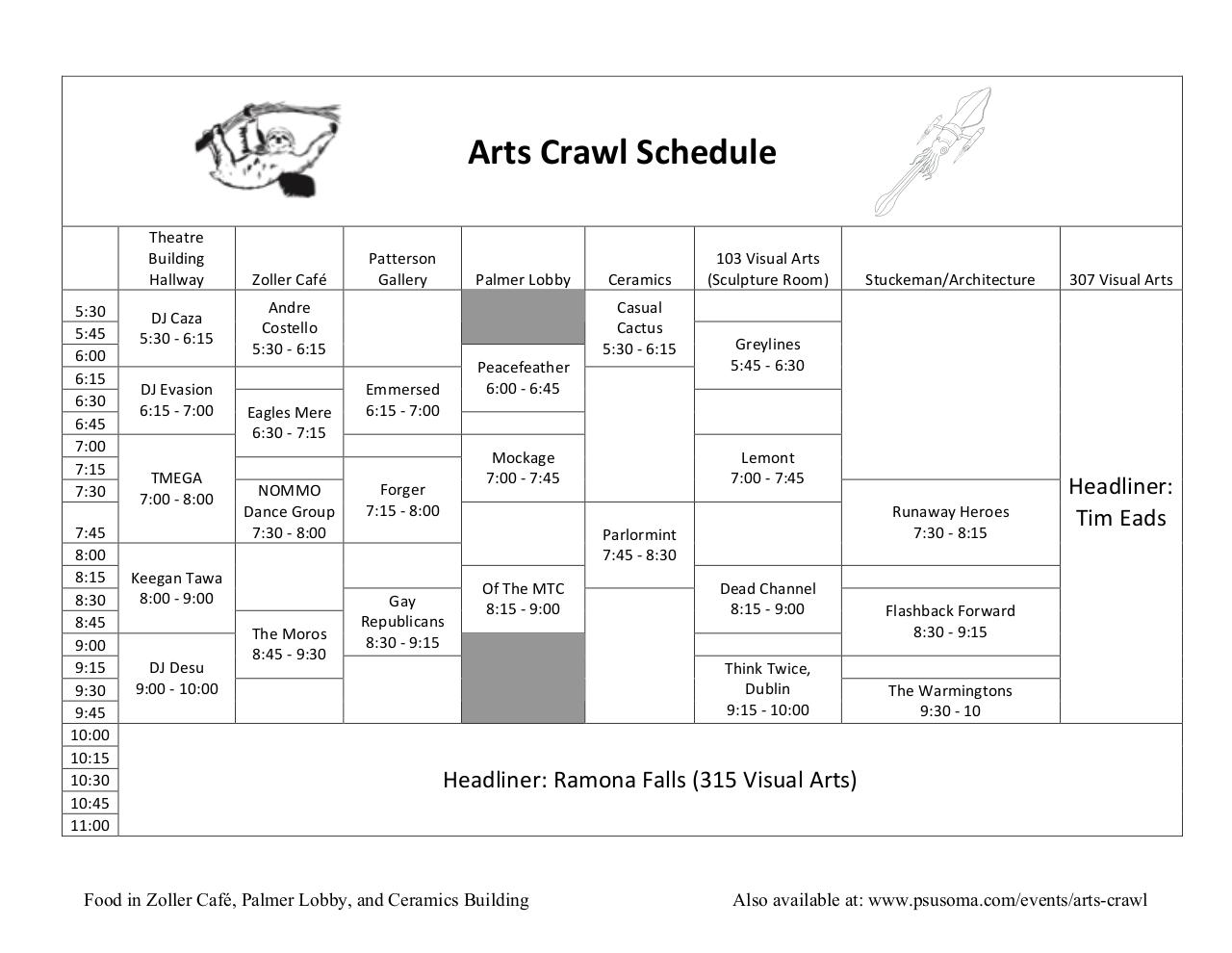 2012 Arts Crawl Schedule.pdf - page 2/2