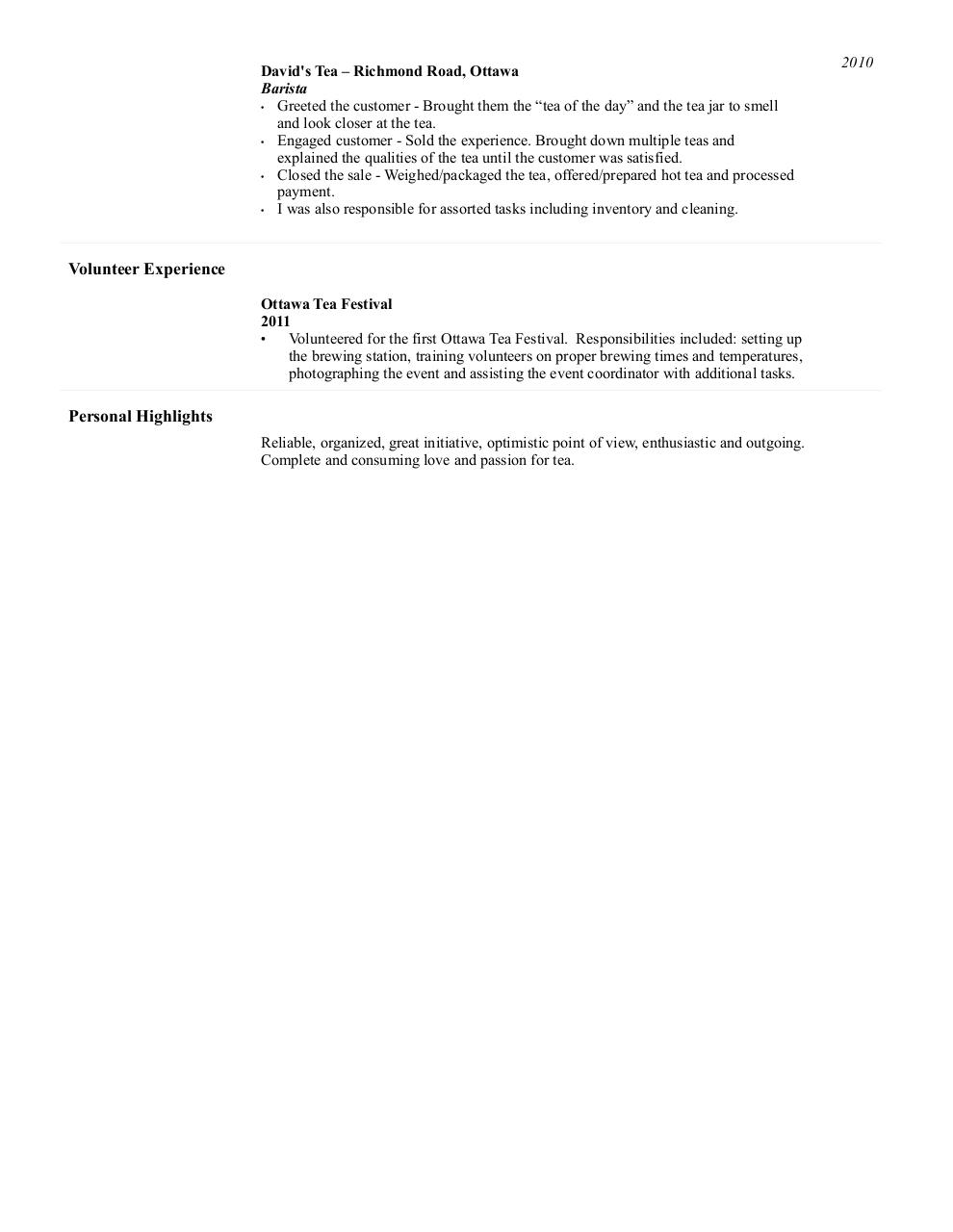my tea resume by elizabeth tessier pdf archive