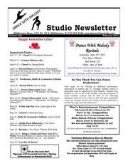 studio newsletter feb 12