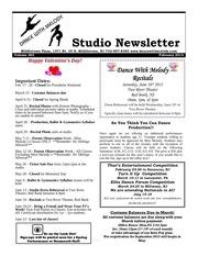 studio newsletter feb 12