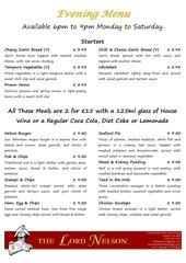 0 evening menu web