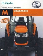kubota new tier euro iv m60 series m 8560 and m 9960 brochure