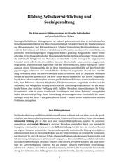 PDF Document bildung selbstverwirklichung und sozialgestaltung