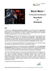 kompositionswettbewerb blasmusik ausschreibung
