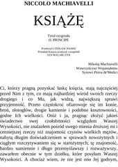 machiavelli ksiaze