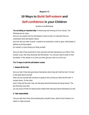 PDF Document report 2 10 ways to build self esteem and self confidence