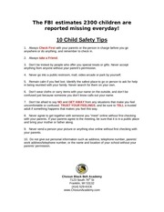 report 5 ten child safety tips