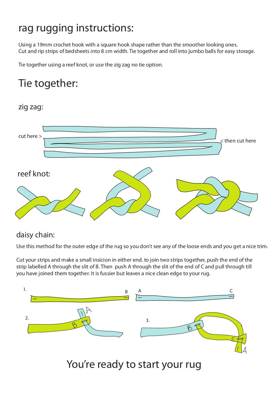 How to- Crochet a rag rug.pdf - page 1/6