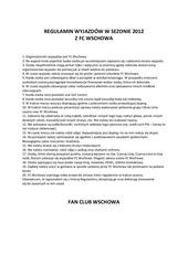 regulamin wyjazd w w sezonie 2012