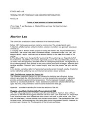 termination of pregnancy handout
