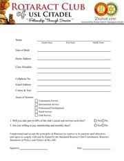 PDF Document rotaract application
