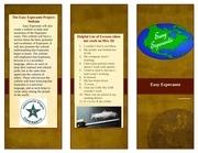 easy esperanto brochure test run