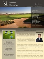 members newsletter june 2012