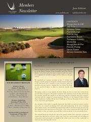 members newsletter june 2012