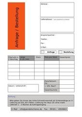 fax anfrage bestellung