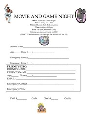 movie and game night application 2012