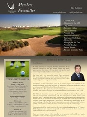 july 2012 members newsletter