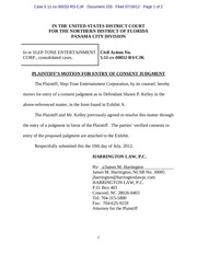 panama 203 plaintiff s motion for entry of consent judgment re shawn p kelley
