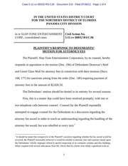 PDF Document panama 210 plaintiff s response to defendants motion for attorney fees re motion to compel sanctions of 2 026 50