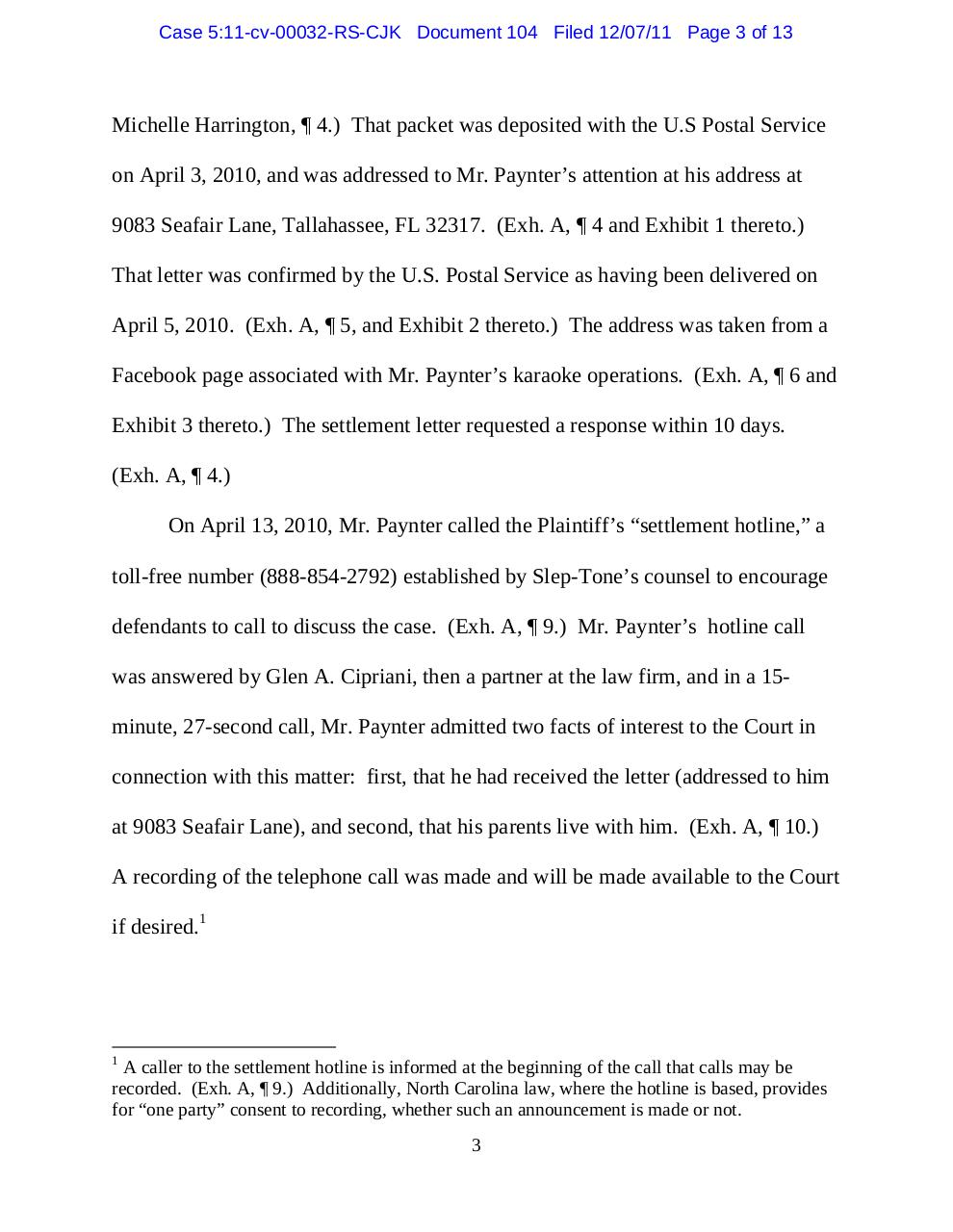 Panama 104 Response to Big Bob's motion to set aside.pdf - page 3/13