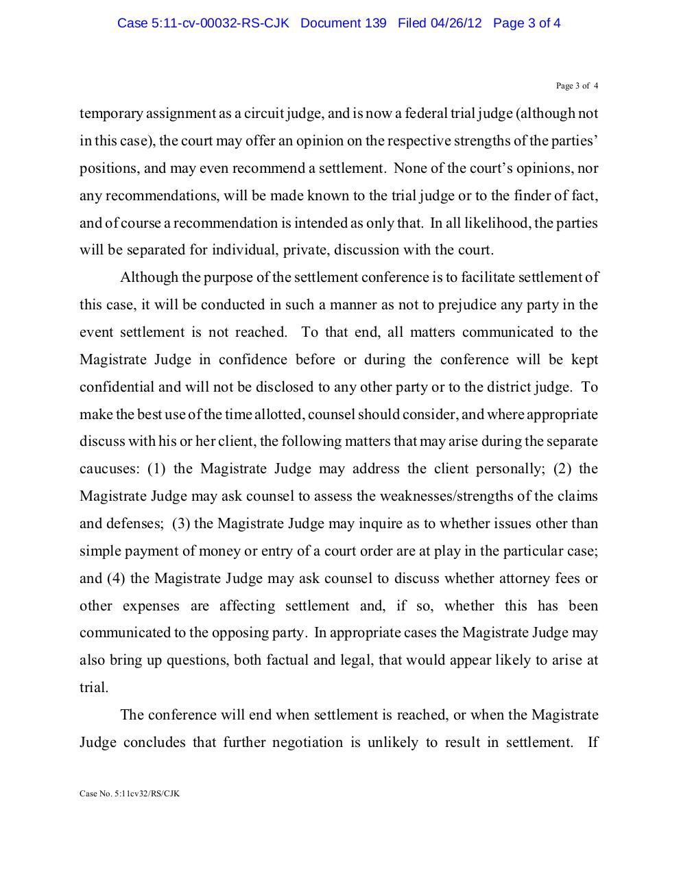 Panama 139 Order setting settlement conf.pdf - page 3/4