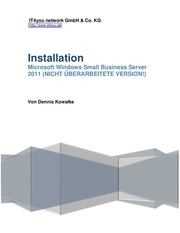 installation small business server 2011 nicht berarbeitet