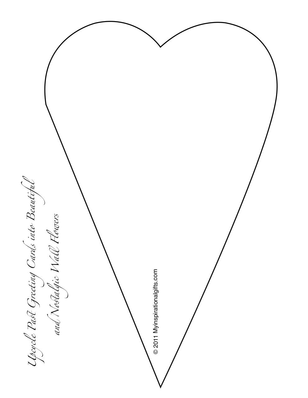 Long heart template for wall hanging by judy mabardy pdf for Template for hanging pictures