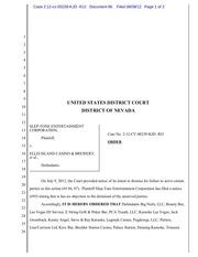 96 order dismissing unserved or unanswering defendants
