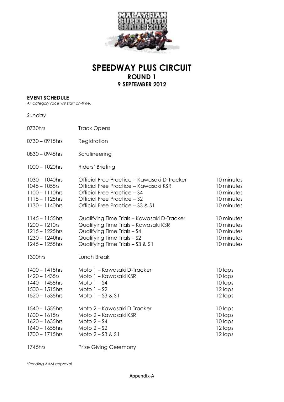 Rules & Regulation for Malaysian Supermoto Series 2012.pdf - page 1/26
