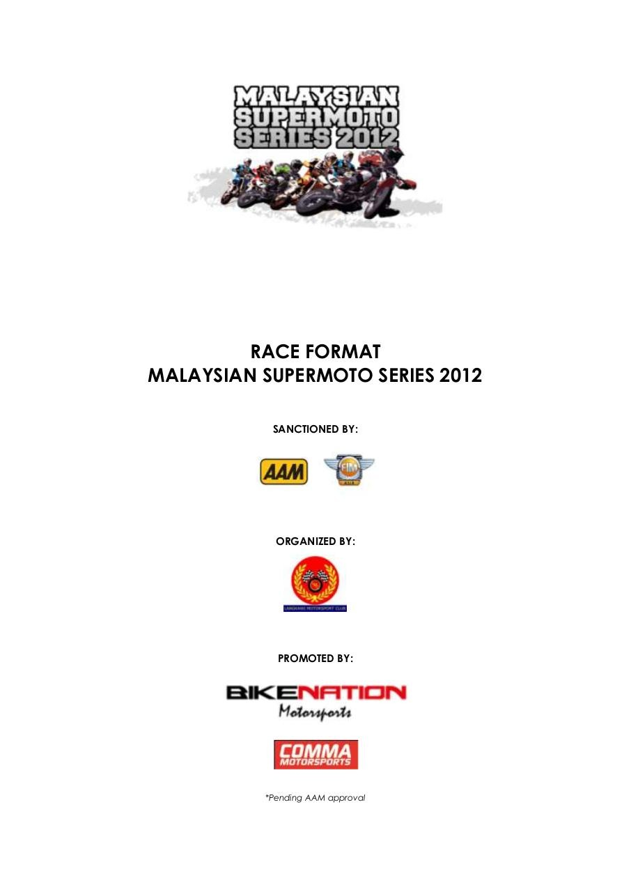 Rules & Regulation for Malaysian Supermoto Series 2012.pdf - page 2/26