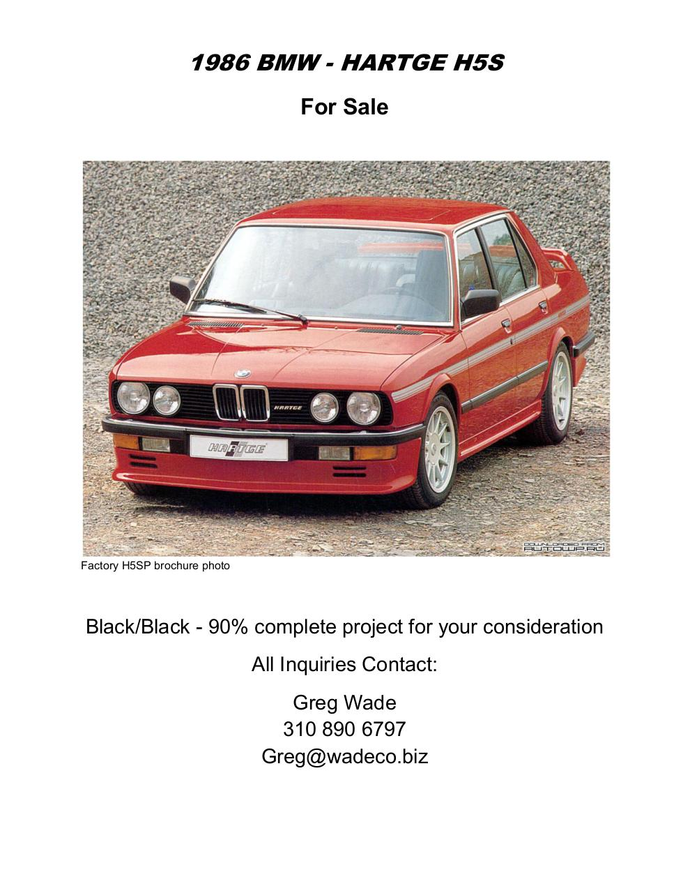 1986 BMW Hartge H5S - For Sale.pdf - page 1/45