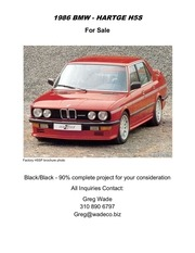 1986 bmw hartge h5s for sale